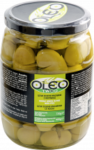 Oleo Green Pitted Olives brined 400g